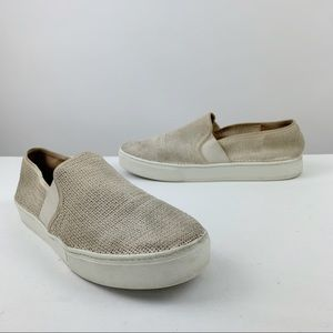 Vince Woven Fabric Slip On Shoes Men's 10